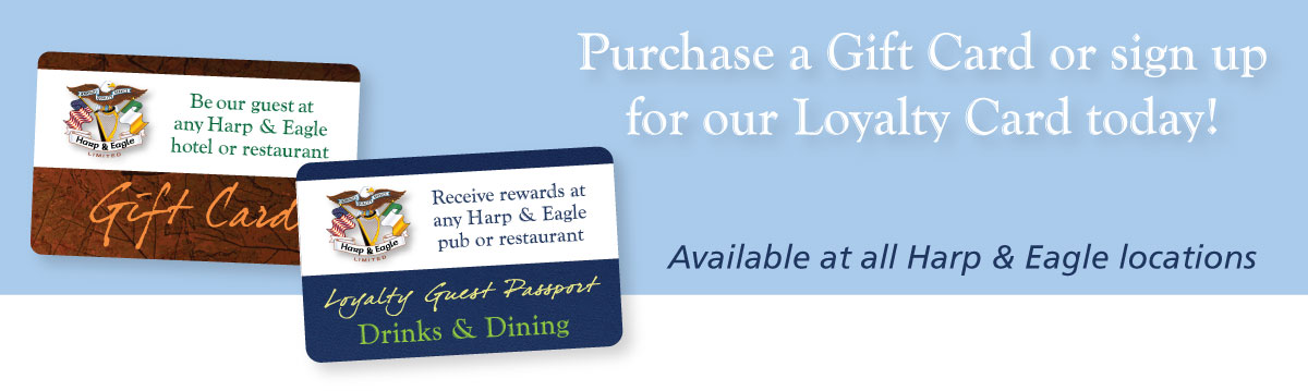 Harp & Eagle Gift Card and Loyalty Program